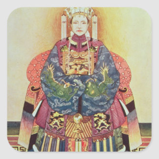 Portrait of Tzu Hsi the Empress Dowager Stickers