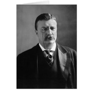 Portrait of U.S. President Theodore Roosevelt Card