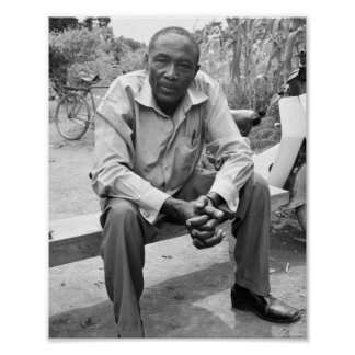 Portrait of Ugandan village chairman Poster