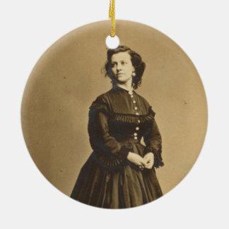 Portrait of Union Spy Pauline Cushman Ceramic Ornament