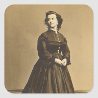 Portrait of Union Spy Pauline Cushman Square Sticker