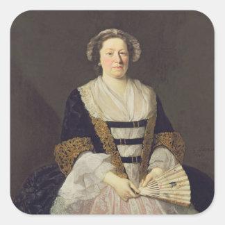 Portrait of Unknown Lady Square Sticker