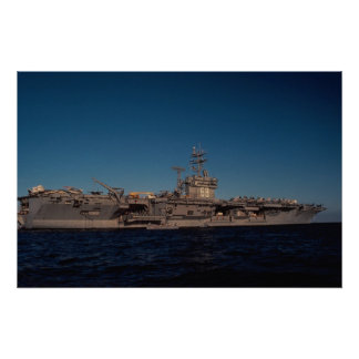"Portrait of ""USS Nimitz"", nuclear powered carrier, Print"