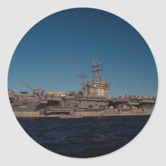 Portrait of USS Nimitz nuclear powered carrier Stickers