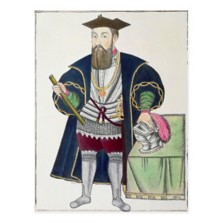 Portrait of Vasco de Gama Postcard