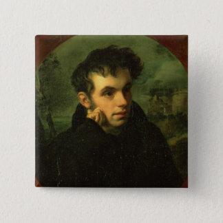 Portrait of Vassily Zhukovsky, 1816 Button