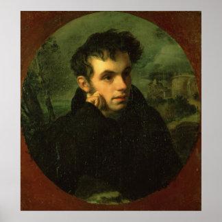 Portrait of Vassily Zhukovsky, 1816 Poster