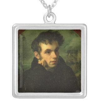 Portrait of Vassily Zhukovsky, 1816 Silver Plated Necklace
