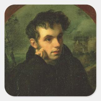 Portrait of Vassily Zhukovsky, 1816 Square Sticker