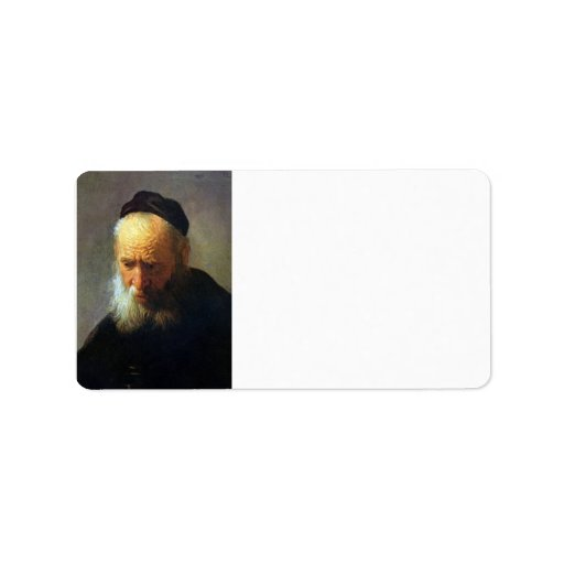 Portrait of Vaters by Rembrandt Address Label