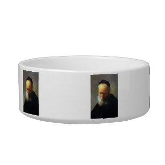 Portrait of Vaters by Rembrandt Cat Food Bowls