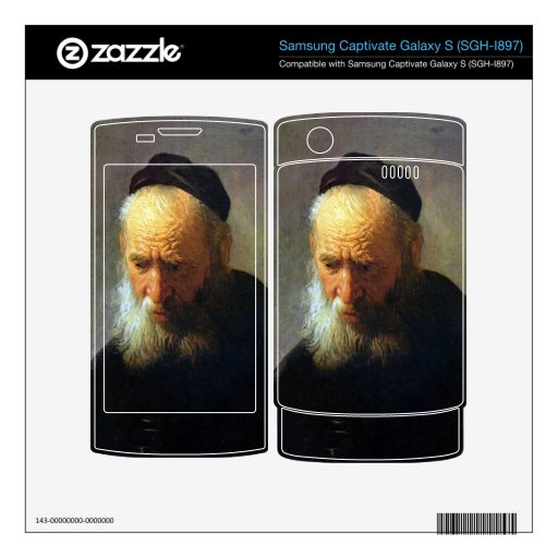 Portrait of Vaters by Rembrandt Samsung Captivate Skins