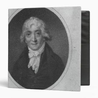 Portrait of Venanzio Rauzzini 3 Ring Binder