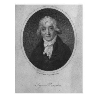 Portrait of Venanzio Rauzzini Postcard