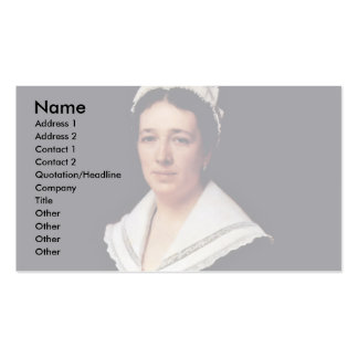 Portrait Of Vera Nikolaevna Tretiakova Born Mamont Business Card