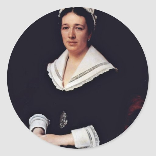 Portrait Of Vera Nikolaevna Tretiakova Born Mamont Classic Round Sticker