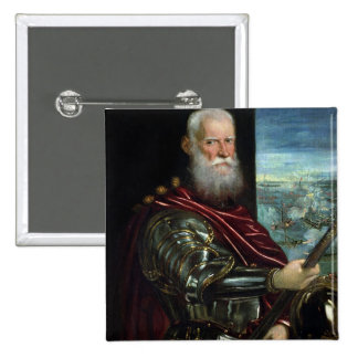 Portrait of  Vernier  Commander-in-Chief Button