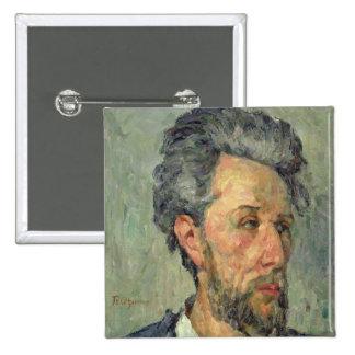 Portrait of Victor Chocquet, 1876-77 2 Inch Square Button
