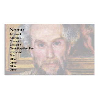 Portrait Of Victor Chocquet By Pierre-Auguste Business Card Templates