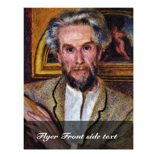"Portrait Of Victor Chocquet By Pierre-Auguste 8.5"" X 11"" Flyer"