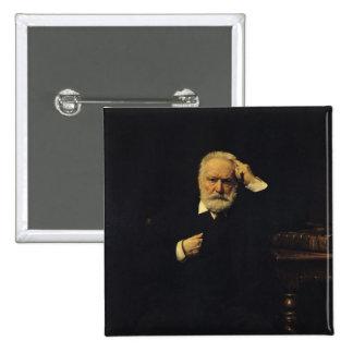 Portrait of Victor Hugo  1879 Button