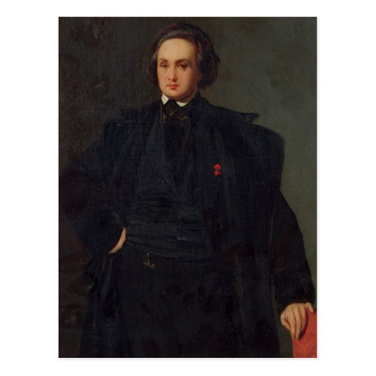 Portrait of Victor Hugo , c.1833 Postcard