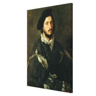 Portrait of Vincenzo Mosti (oil on canvas) Canvas Print