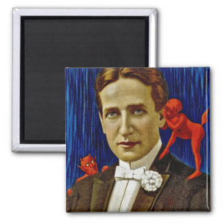 Portrait of Vintage Gentleman with Devils Magnet
