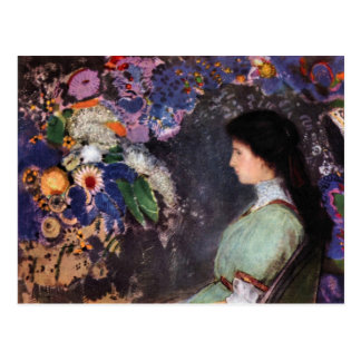 Portrait of Violet Heyman by Bertrand-Jean Redon Postcard