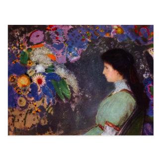 Portrait of Violet Heymann by Bertrand-Jean Redon Postcard