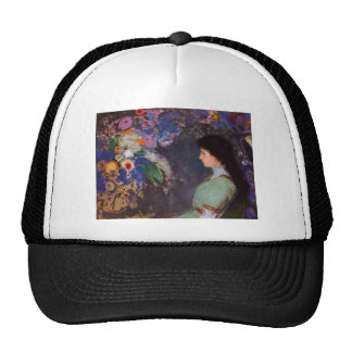 Portrait of Violet Heymann by Bertrand-Jean Redon Trucker Hat