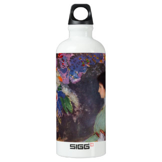 Portrait of Violet Heymann by Bertrand-Jean Redon Water Bottle