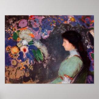 Portrait of Violette Heymann, 1910 Posters
