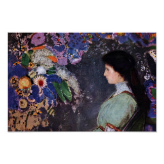 Portrait Of Violette Heymann By Odilon Redon Poster