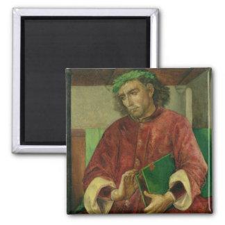Portrait of Virgil , c.1475 2 Inch Square Magnet