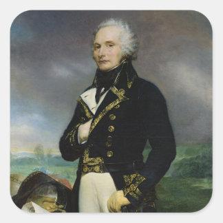 Portrait of Viscount Alexandre-Francois-Marie Square Sticker