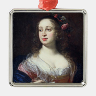 Portrait of Vittoria della Rovere dressed as Flora Metal Ornament