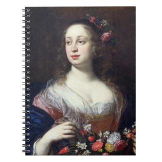 Portrait of Vittoria della Rovere dressed as Flora Notebook