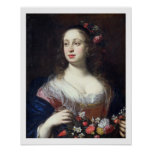 Portrait of Vittoria della Rovere dressed as Flora Print