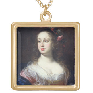 Portrait of Vittoria della Rovere dressed as Flora Square Pendant Necklace