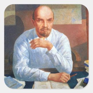 Portrait of Vladimir Ilyich Lenin , 1934 Square Sticker