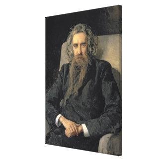 Portrait of Vladimir Sergeyevich Solovyov , 1895 Canvas Print