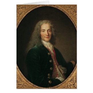Portrait of Voltaire  after 1718 Greeting Card