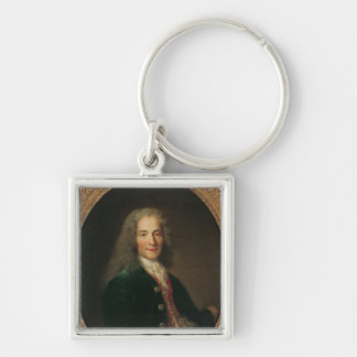Portrait of Voltaire  after 1718 Keychain