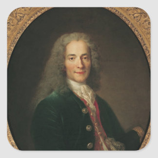 Portrait of Voltaire  after 1718 Square Sticker