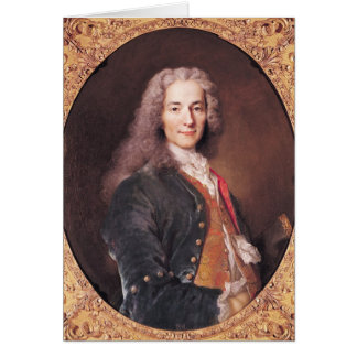 Portrait of Voltaire  aged 23, 1728 Card