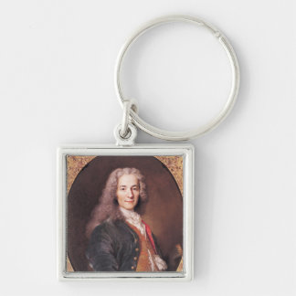 Portrait of Voltaire  aged 23, 1728 Keychain