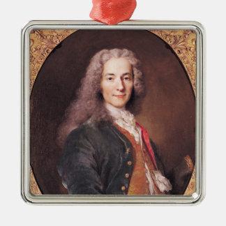 Portrait of Voltaire  aged 23, 1728 Metal Ornament