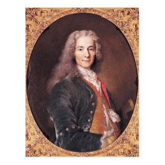 Portrait of Voltaire  aged 23, 1728 Postcard