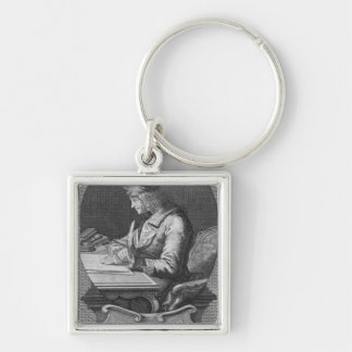 Portrait of Voltaire at Ferney Keychain